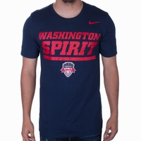 Men's Nike Washington Spirit Over Crest Tee - Navy