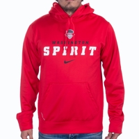 Men's Nike Washington Spirit Therma PO Hoody - Red
