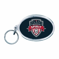 Washington Spirit Oval Acrylic Keyring - Navy