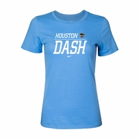 Women's Nike Houston Dash Split Tee - Light Blue