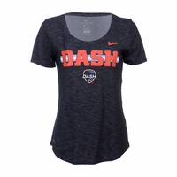 Women's Nike Houston Dash SS Dry Slub Tee - Black