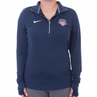 Women's Nike Washington Spirit Element 1/2 Zip Top - Navy