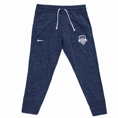 Women's Nike Washington Spirit Gym Vintage Capri Pants - Navy - Click to enlarge
