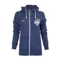 Women's Nike Washington Spirit Gym Vintage FZ Hoody - Navy