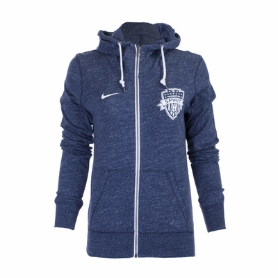 Women's Nike Washington Spirit Gym Vintage FZ Hoody - Navy - Click to enlarge