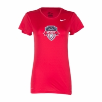 Women's Nike Washington Spirit Legend Crest Tee - Red