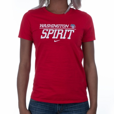 Women's Nike Washington Spirit Split Tee - Red - Click to enlarge