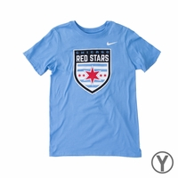Youth Nike Chicago Red Stars Crest Tee - Valor Blue