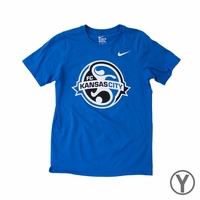 Youth Nike FC Kansas City Crest Tee - Royal