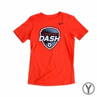 Youth Nike Houston Dash Crest Tee - Team Orange
