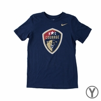 Youth Nike North Carolina Courage Crest Tee - Navy