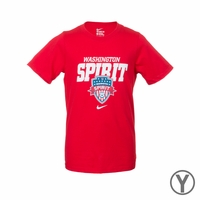 Youth Nike Washington Spirit Bold Tee - Red