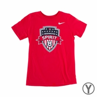 Youth Nike Washington Spirit Crest Tee - Red