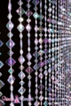 "Beaded Curtain ""Mackenzie"" - Iridescent Crystal - Flat Diamonds"