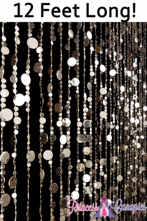 Bubbles (Lighter) Gold Beaded Curtain 12'