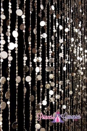 Bubbles (Lighter) Gold Beaded Curtain 6'