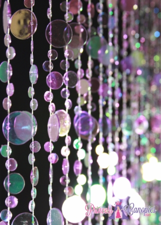 Bubbles Purple Iridescent Beaded Curtain
