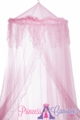 "Canopy ""Evangeline"" Pink With Holographic Polka Dots Mosquito Net"