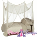 "Canopy- ""Zanzibar"" Cream Four Point Luxury Quality Mosquito Net"