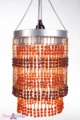 Chandelier  Ashley  2-Tier Hanging Lamp, Amber/Brown