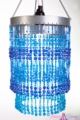 "Chandelier  ""Ashley""  2-Tier Hanging Lamp, Blue"