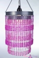 Chandelier  Ashley  2-Tier Hanging Lamp, Pink
