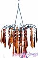 "Chandelier "" Bejeweled "" Amber/Brown"