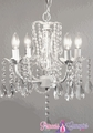 "Chandelier ""Daphne""  - Glimmering Draped Glass Crystals"