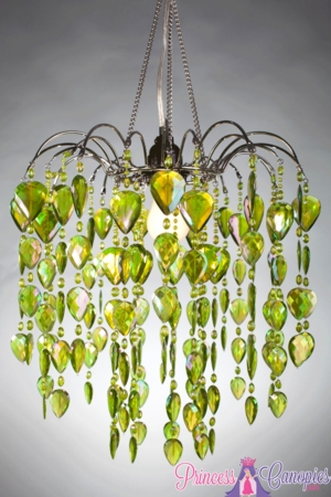 Chandelier quot fountain quot lime green