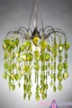 """Chandelier  """"Fountain""""  Lime Green"""