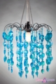 "Chandelier  ""Fountain""  Neon Blue"