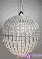 "Chandelier Sphere 8""  The Original  - Clear and Silver"