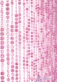 Diamonds Pink Beaded Curtain