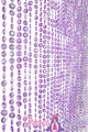 Diamonds Purple Beaded Curtain