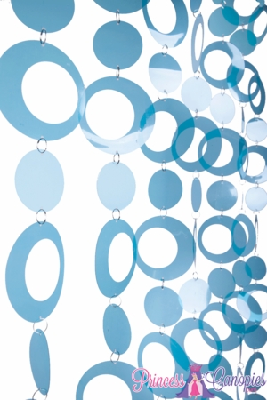 Hoops Blue Beaded Curtain