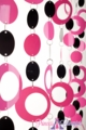 Hoops Pink N' Black PVC Beaded Curtain