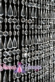 """Lafayette""  Crystal Clear 12' Long Non-Iridescent Beaded Curtain"
