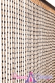 "Multi Wooden Bead Curtain - Kingston - 35.5"" x 78"" - 49 Strands"