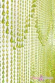 Raindrop Lime Iridescent Beaded Curtain