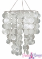 Real White Capiz Shell Chandelier