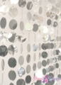 """Spangles"" PVC Circles Beaded Curtain - Silver"