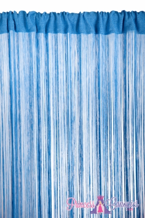String Curtain Cobalt Blue - 18 Strings Per Inch - 36