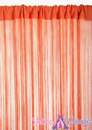 String Curtain Orange 18 Strings Per Inch! - 36