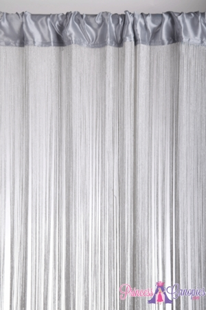 String Curtain Silver W/ Lurex 18 Strings Per Inch! 36