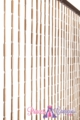 "Wooden & Bamboo Bead Curtain - Shelley - 35.5"" x 70"" - 27 Strands"