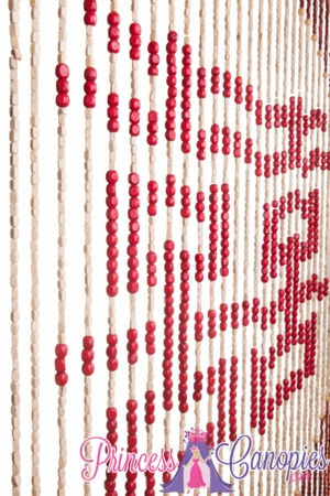 Wooden Bead Curtain - Harmony -  35.5