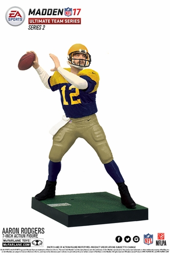 Aaron Rodgers (Green Bay Packers) EA Sports Madden NFL 17 Ultimate Team Series 2 McFarlane