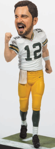 "Aaron Rodgers (Green Bay Packers) NFL 34 McFarlane Collector Level Bronze ""Big Head"" CHASE #/3000"