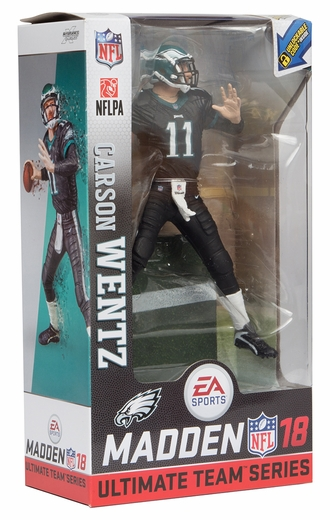 Carson Wentz (Philadelphia Eagles) EA Sports Madden NFL 18 Ultimate Team Series 1 McFarlane