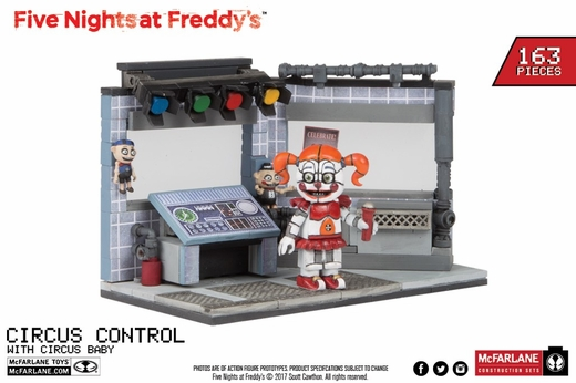 Circus Control w/ Circus Baby (Five Nights At Freddy's) Medium Set McFarlane Construction Set